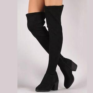 New Ladie Women Bamboo Suede Heel Boots Victoria18
